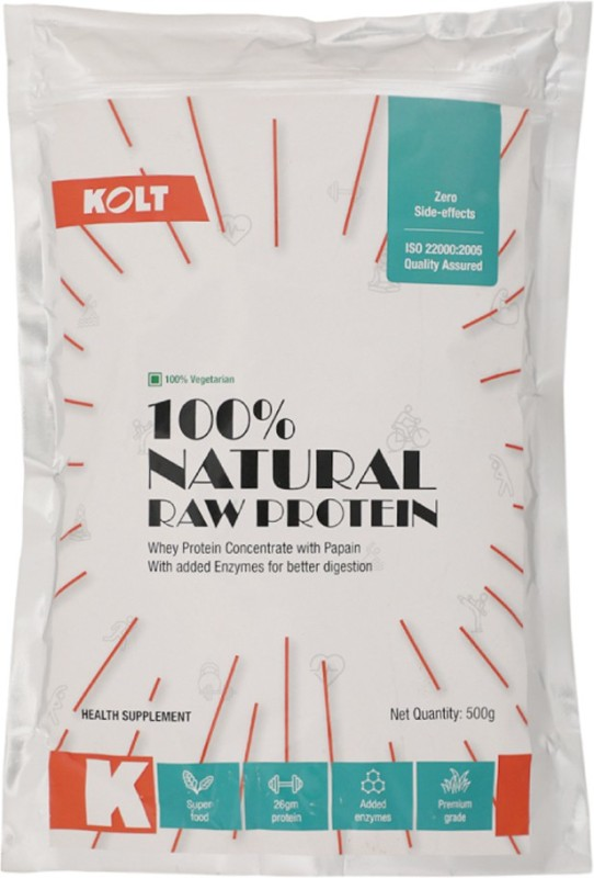 KOLT 100% Natural Raw Whey Protein(500 g, Unflavored)