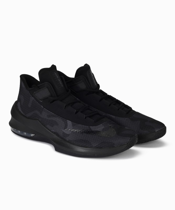 Nike AIR MAX INFURIATE 2 MID PRM Basketball Shoes For Men(Black)