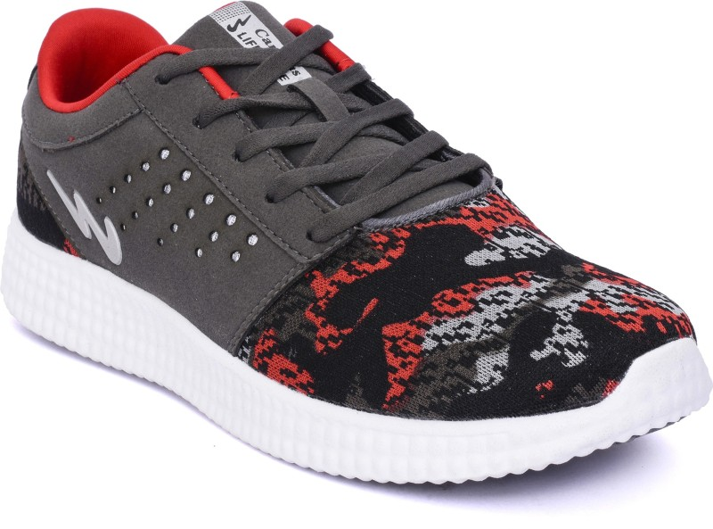 Campus Walking Shoes For Men(Grey, Black, Red)