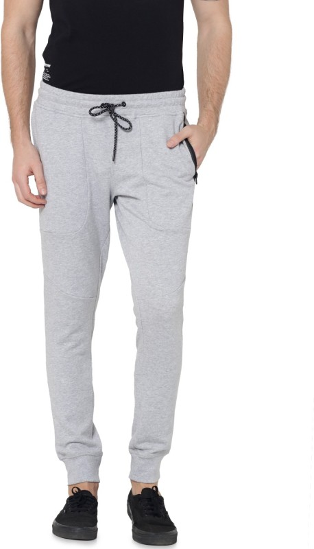 Jack & Jones Solid Men Grey Track Pants