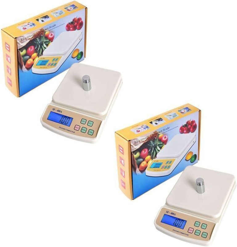 stepgear .10gm to 10 kg sf 400 a pack of two Weighing Scale(off white)