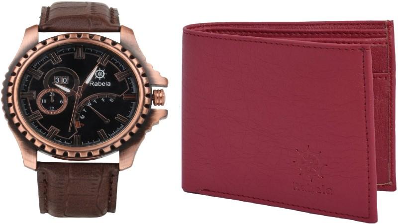 Rabela Wallet, Analog Watch Combo(Multicolor)