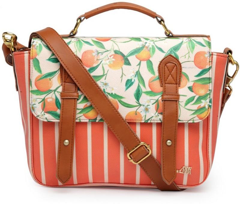 Band Box Tropical Satchel Bag Waterproof Sling Bag(Multicolor, 13 inch)