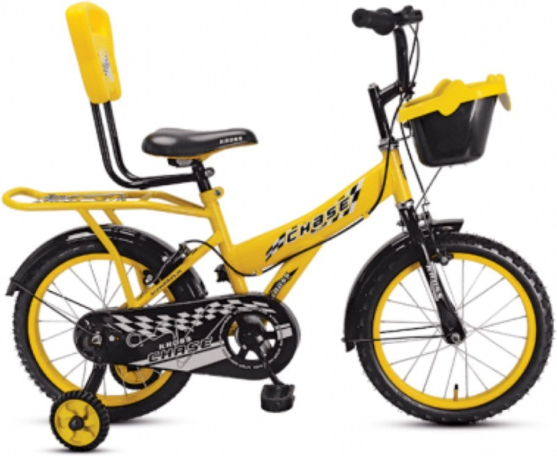 Kross Chase Bike For Kids Of Age 2-5Yrs Yellow 16 T Recreation Cycle(Single Speed, Multicolor)