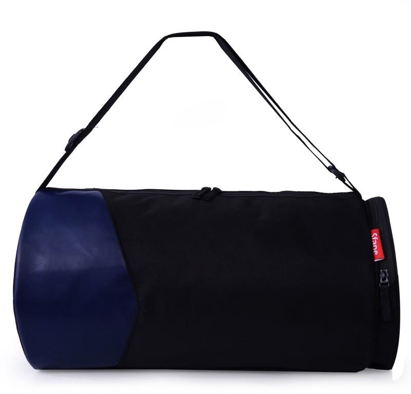 sfane Trendy Sports Duffel Gym Bag Gym Bag(Black)