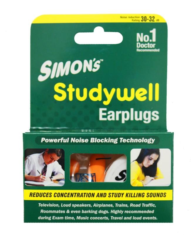 Simon's STUDYWELL SUPER SAVER PACK - 5 PAIR FOAM EAR PLUG Ear Plug(Yellow)