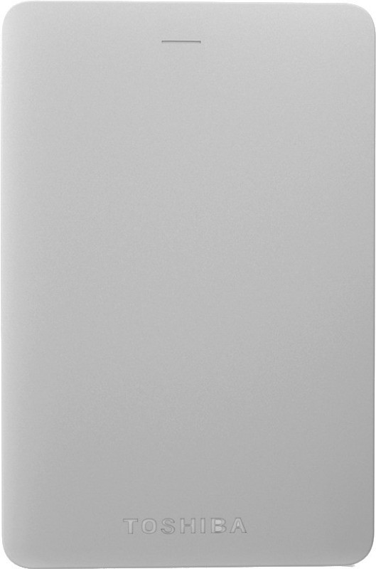 Toshiba Canvio Alumy 1 TB Wired External Hard Disk Drive(Silver)