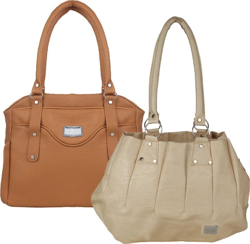 Element Cart Women Brown, Beige Hand-held Bag