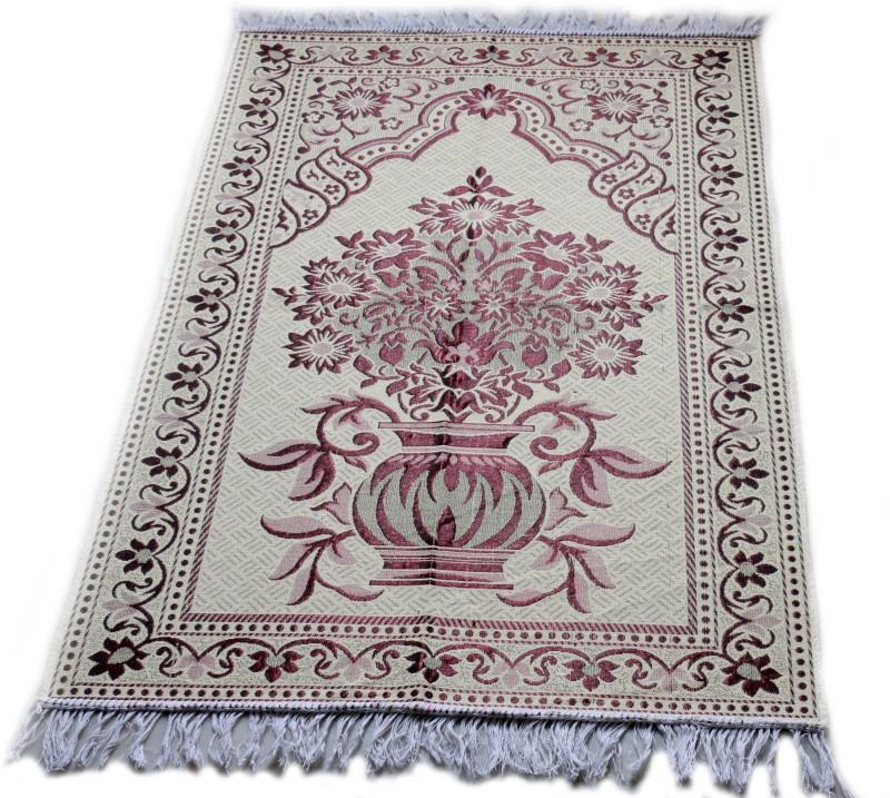 MOMIN BAZAAR Cotton Prayer Mat(Pink, Large)
