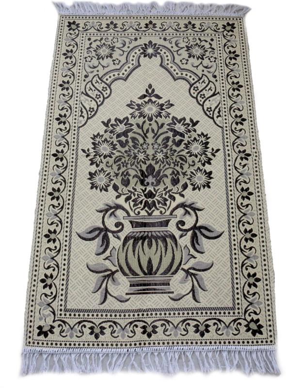MOMIN BAZAAR Cotton Prayer Mat(Black, Large)