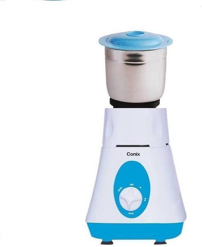 Conix Turbo Grinder 450 Juicer Mixer Grinder(White, White & Sky Blue, 1 Jar)