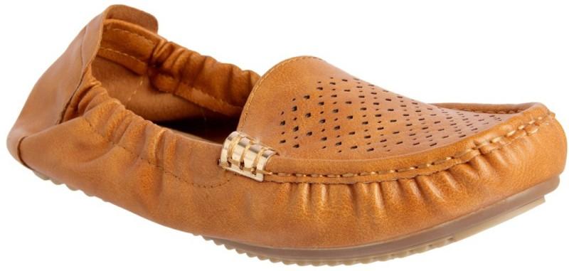 Flat n Heels Loafers For Women(Tan)