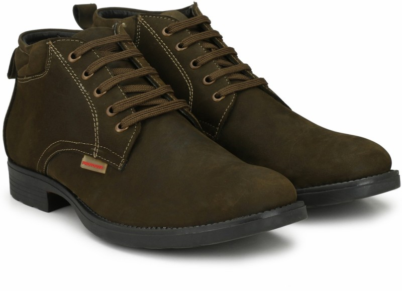 Provogue PRO-CAP-AW1008 Boots For Men(Olive)