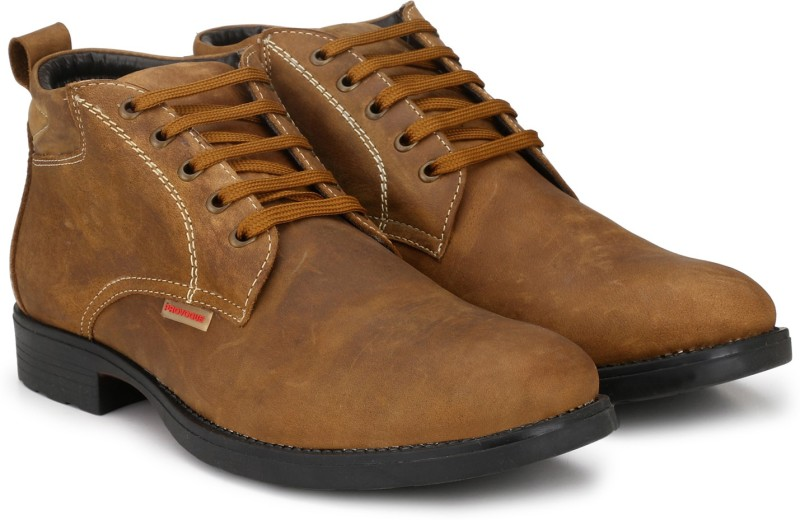Provogue PRO-CAP-AW1008 Boots For Men(Tan)