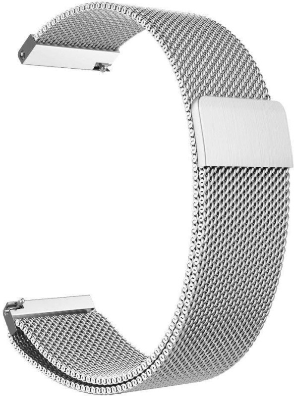 Higar Stainless Steel Milanese Loop Replacement Strap Smart Watch Strap(Silver)