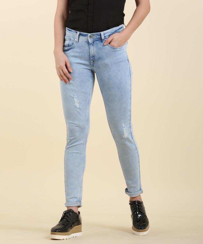 Allen Solly Mariia Regular Womens Light Blue Jeans