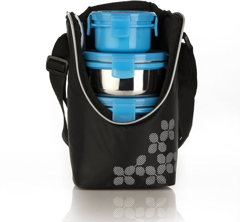 Cello Max Fresh Click-4 (Steel) 4 Containers Lunch Box(1150 ml)