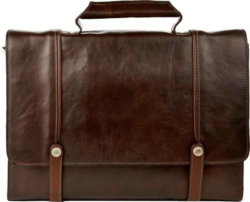Hidesign PCADILY ARCADE 02-REGULAR RANCH-BROWN TAN Medium Briefcase - For Men(Brown)