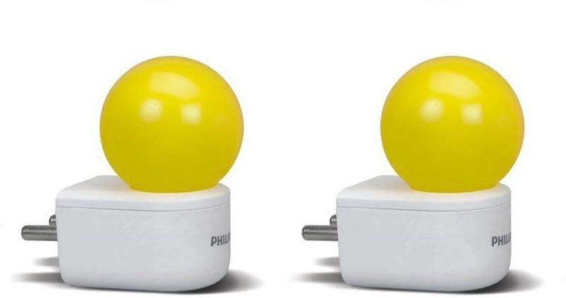 Philips 0.5 W Standard 2 Pin LED Bulb(Yellow, Pack of 2)