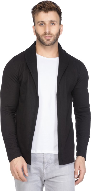 Tinted Men's No Closure Solid Cardigan