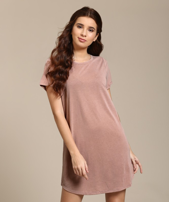 Forever 21 Women A-line Pink Dress