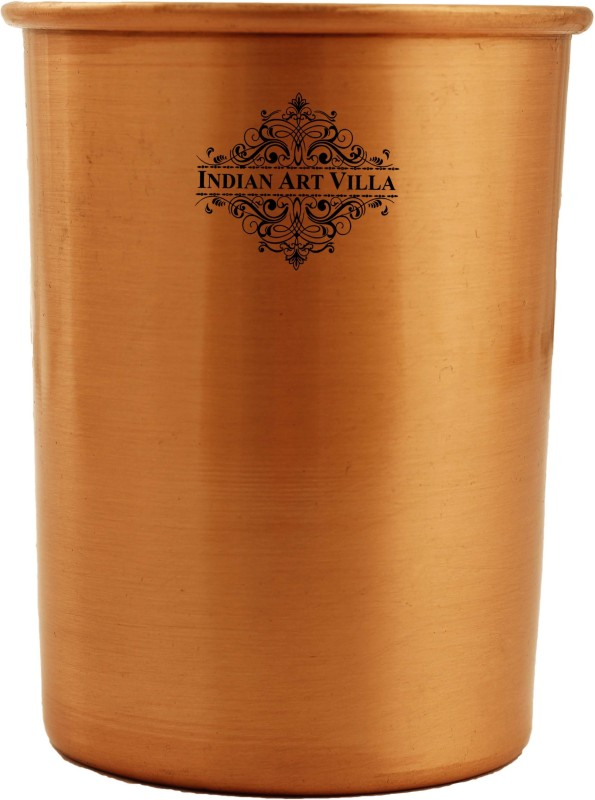 IndianArtVilla Copper Plain Lacquer Coated Glass(Copper, 300 ml, Brown, Pack of 1)