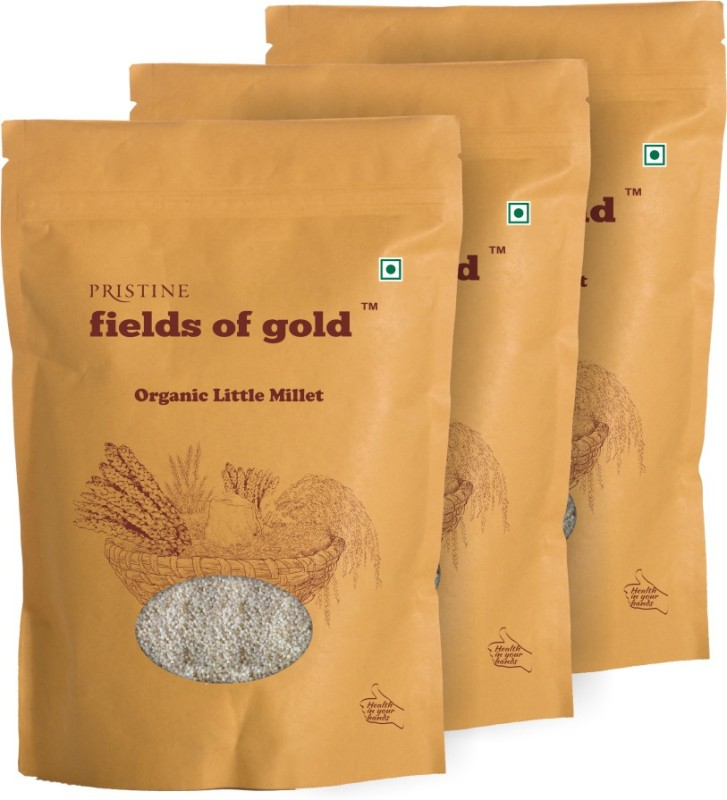 Fields of Gold Organic Little Millet(500 g, Pack of 3)