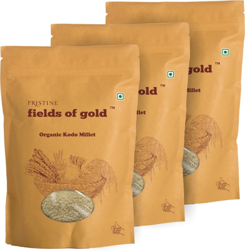 Fields of Gold Organic Kodo Millet(500 g, Pack of 3)