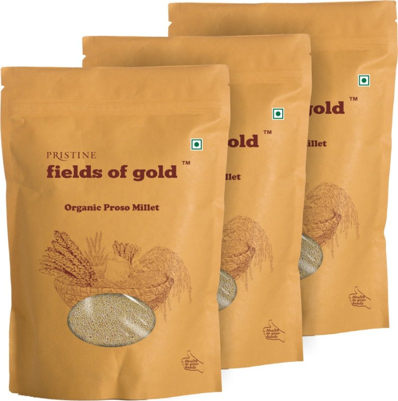 Fields of Gold Organic Proso Millet(500 g, Pack of 3)