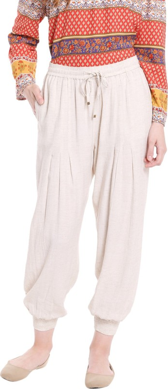 Fusion Beats Solid Viscose Womens Harem Pants