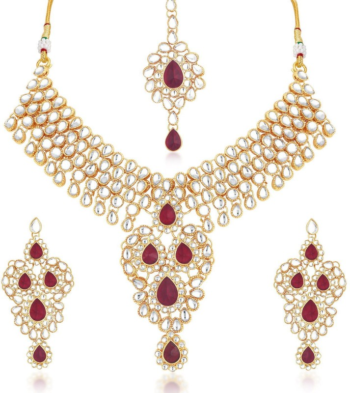 Trushi Alloy Jewel Set(Maroon)
