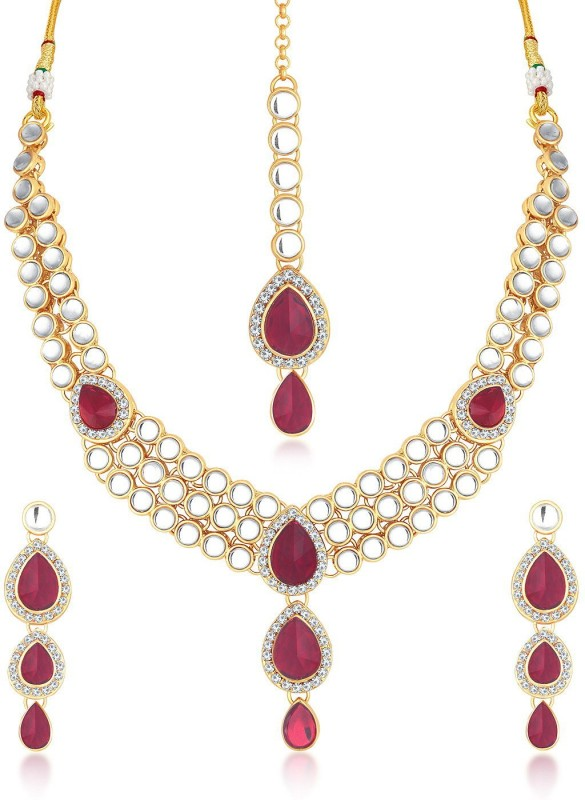 Trushi Alloy Jewel Set(Red)