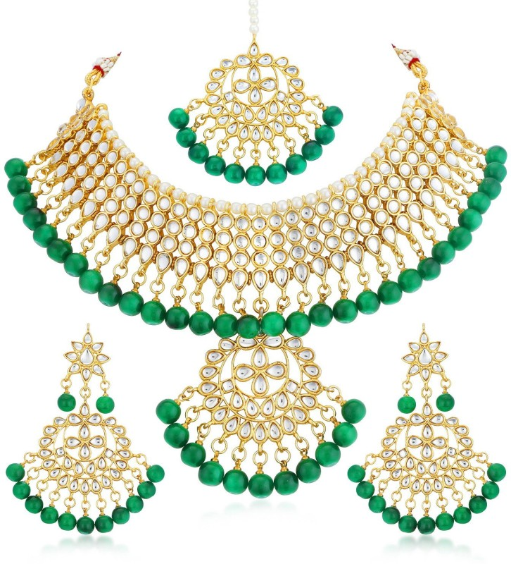 Trushi Alloy Jewel Set(Green)