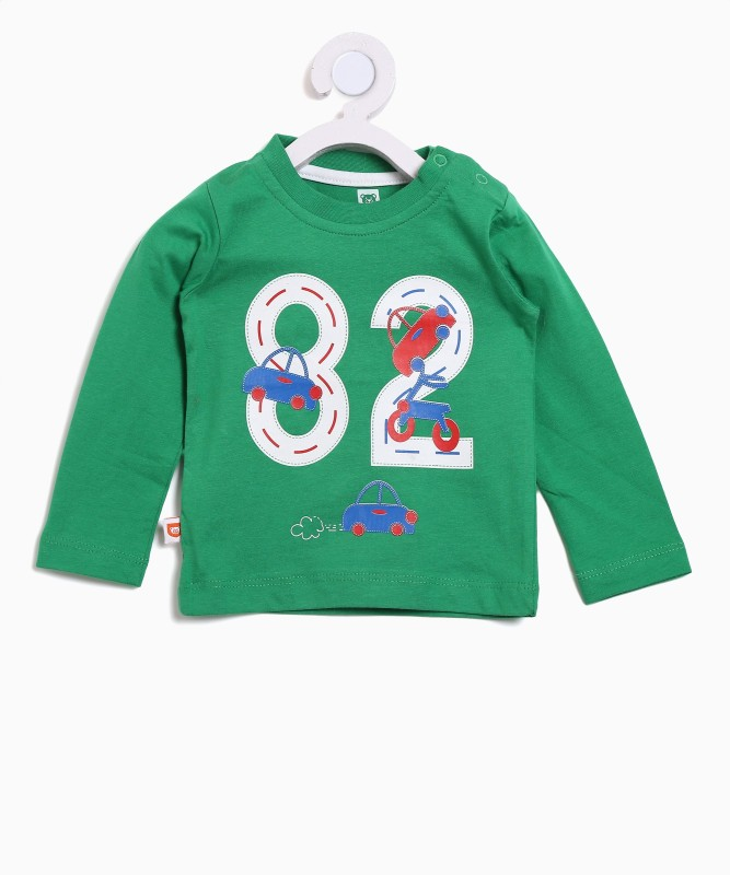 612 League Boys Printed Cotton T Shirt(Green, Pack of 1)