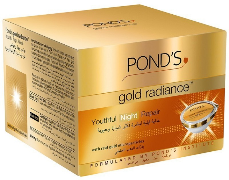 Ponds Gold Radiance Youthful Night Repair Cream 50gm(50 g)