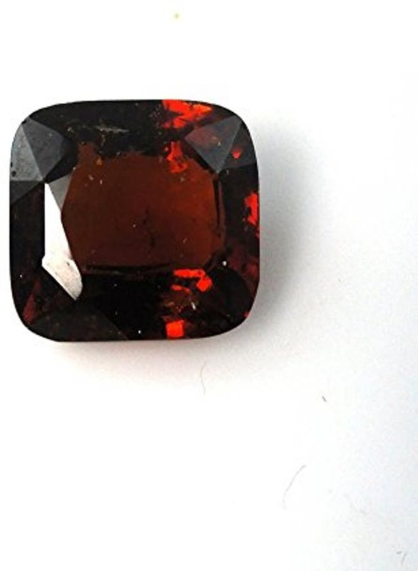 Tejvij and sons 9.25 Ratti Natural Birthstone Gomed GLI Certified Gemstone Stone Garnet Ring