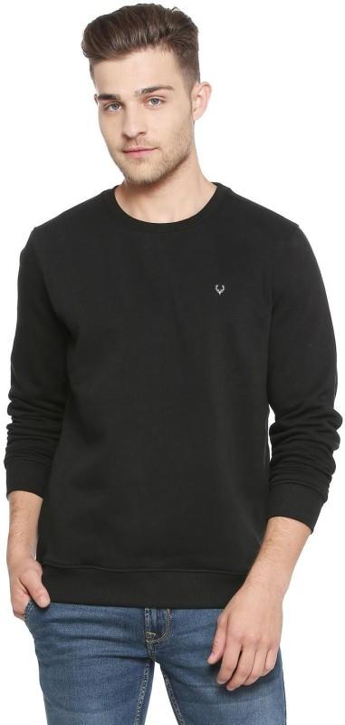 Allen Solly Full Sleeve Solid Men Sweatshirt