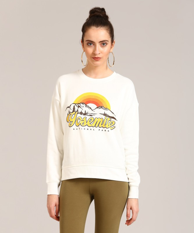 Forever 21 Full Sleeve Printed Womens Sweatshirt