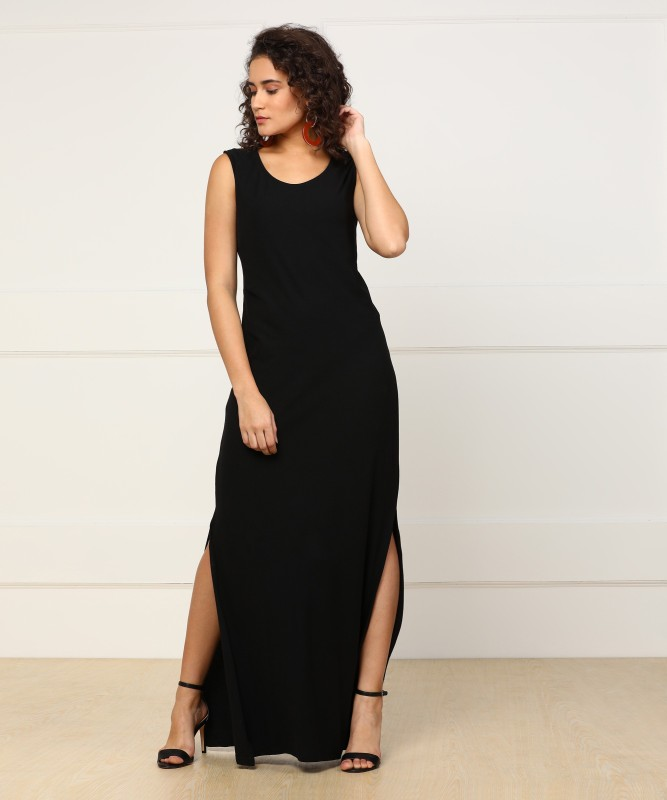 Pepe Jeans Womens Maxi Black Dress