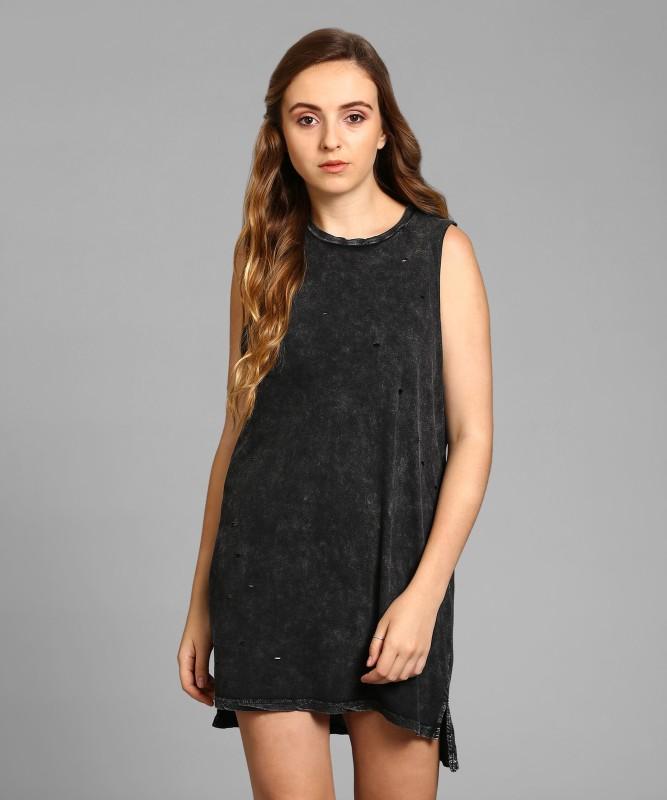 Forever 21 Womens T Shirt Black Dress