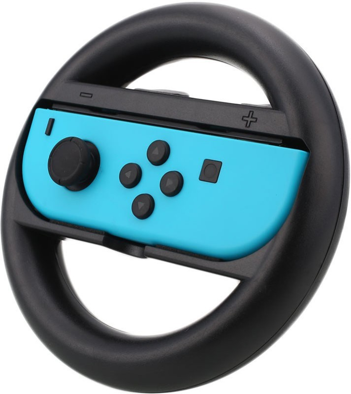 Microware Steering Wheel handle Grips for Switch Game, Racing Wheel Joy-Con Grips Set for Switch Controller (2 Pack, Black) Gaming Accessory Kit(Black, For PC)
