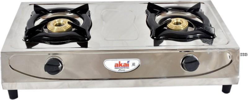 akai akai_classic Stainless Steel Manual Gas Stove(2 Burners)