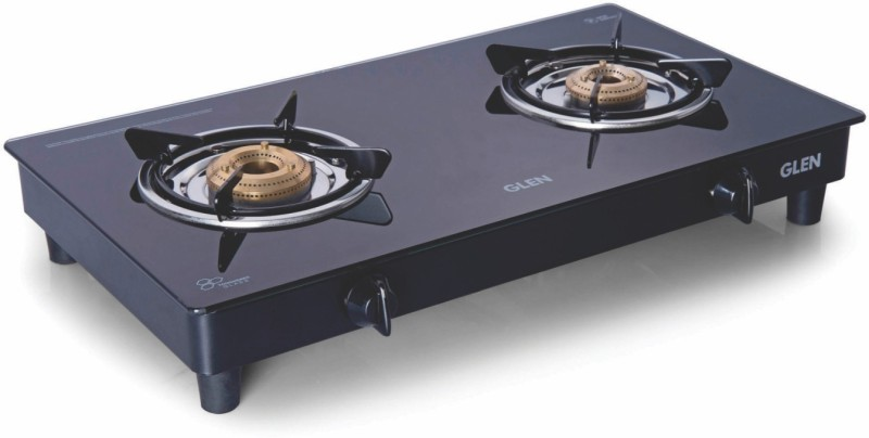 GLEN GL 1020 GT BB Black Stainless Steel Manual Gas Stove(2 Burners)