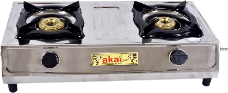 akai akai_smart Stainless Steel Manual Gas Stove(2 Burners)