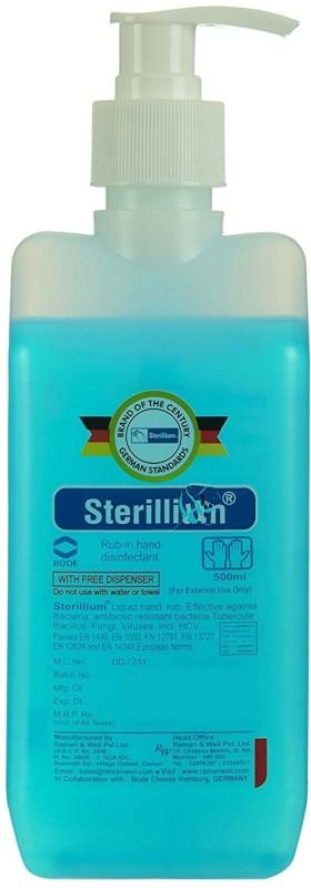 Sterillium Best quality Hand Sanitizer 500 ML For Home & Hospital Use Pump Dispenser(500 ml)