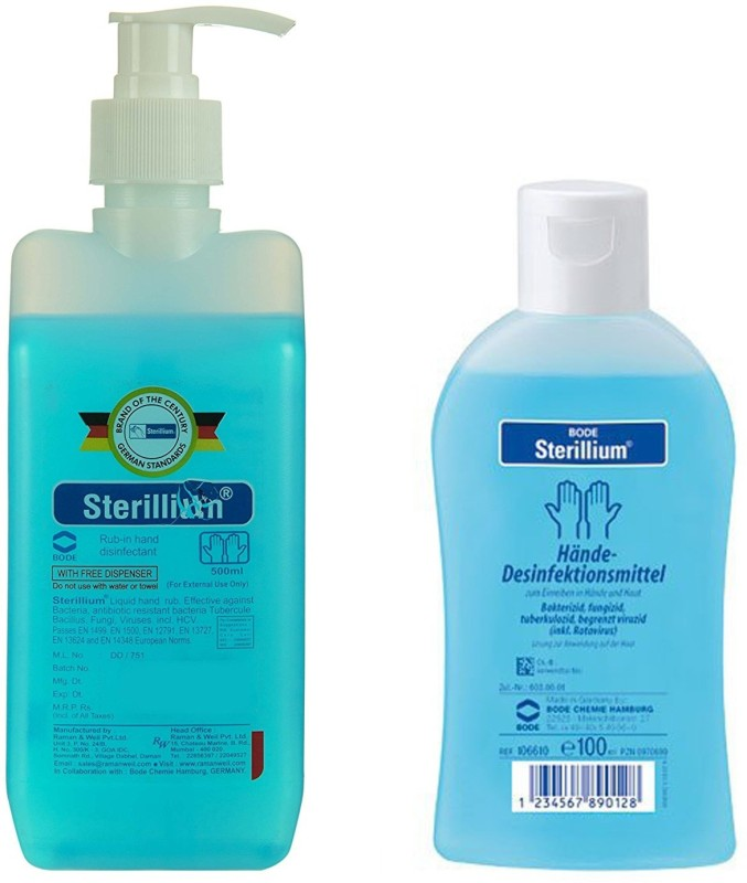 Sterillium Best quality Hand Sanitizer 500 + 100 ML Combo For Home & Hospital Use Pump Dispenser(2 x 300 ml)