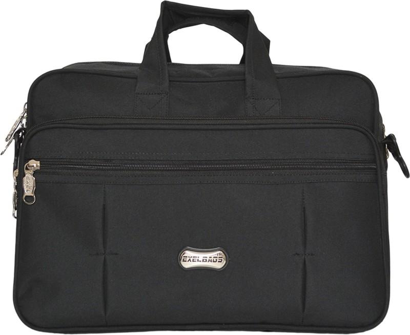 Exel Bags 12 inch Expandable Laptop Messenger Bag(Black)
