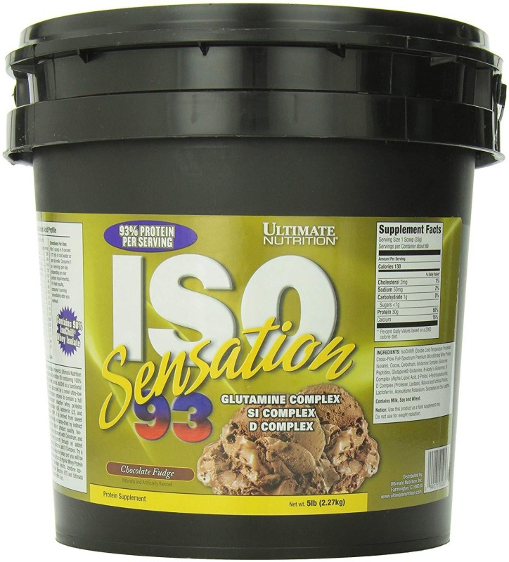 Ultimate Nutrition ISO Sensation 93-5 lbs Whey Protein(2.27 kg, Chocolate Fudge)