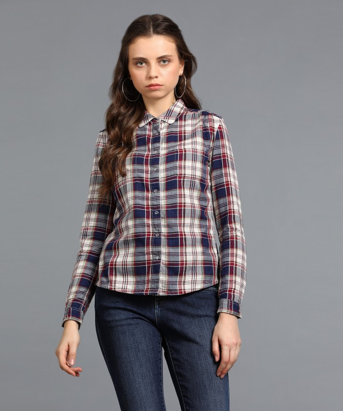 Wrangler Womens Checkered Casual Spread Shirt(Pack of 10)