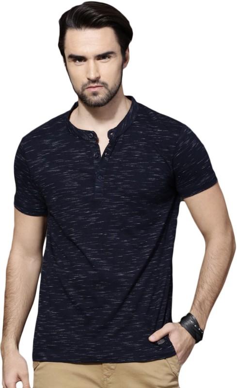 Roadster Solid Men Henley Beige T-Shirt